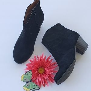 Lucky Brand Suede Leather Booties Womens Size 7.5
